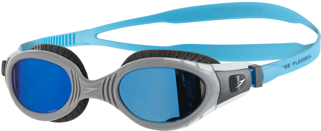 5665a1204a1f65 speedo Futura Biofuse Flexiseal Mirror duikbrillen grijs/blauw I ...